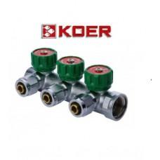 """Koer 1121-3 3/4""""x3 WAYS коллектор вентильный с фитингом"""